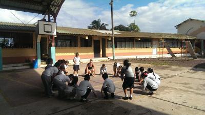 Katrine på undervisningsprojekt i Ecuador