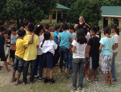 Udendørs undervisning i Filippinerne