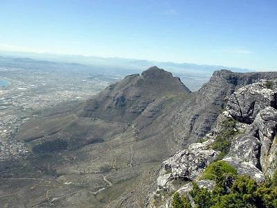 På toppen af Table Mountain