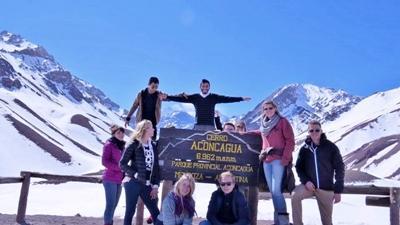 Frivillige på toppen af Aconcagua