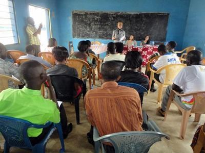 Session med lærere fra en lokal skole