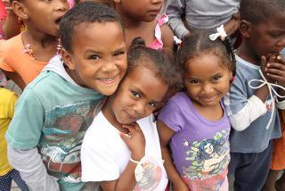 Lokale børn i Sydafrika
