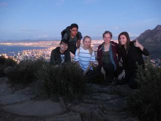Frivillige på udflugt i Cape Town