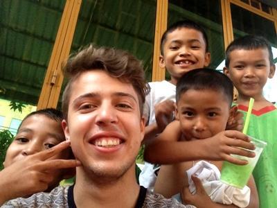 Billede fra et humanitært projekt i Cambodja