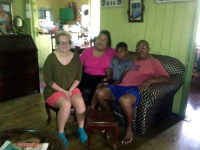 Host family in Fiji