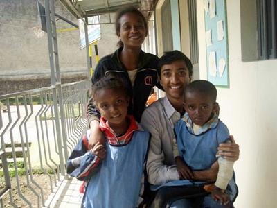 With children at work