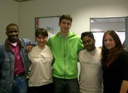 Volunteers and staff