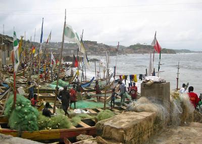 Fishing boats cape coast