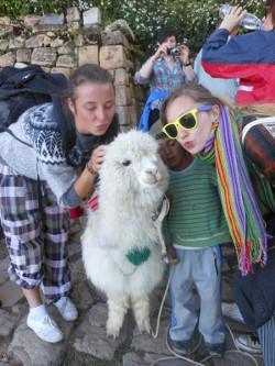 With a llama