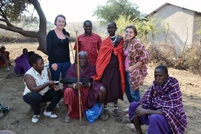 Group photo in the local village in Tanzania