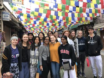 Medicine volunteers exploring Nepal