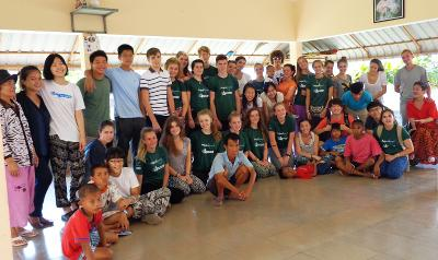 Volunteers at the project