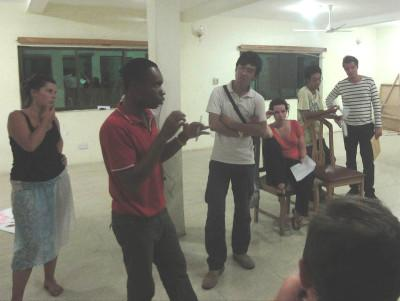 Rehersing presentations in Yeji