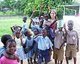 With children at Good Shepherd