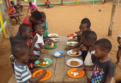 Children eating food