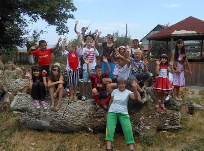 Children on drama project