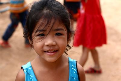 A young girl at the care centre