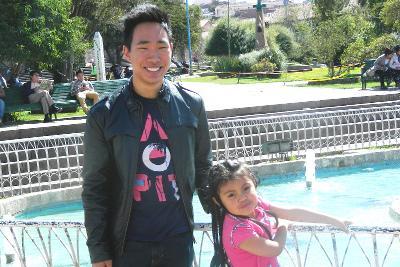 My host sister in Peru