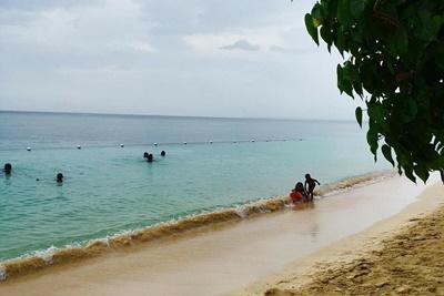 A local Jamaican beach