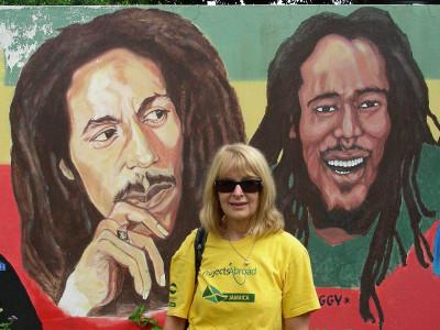 Jenny at bob Marley museum