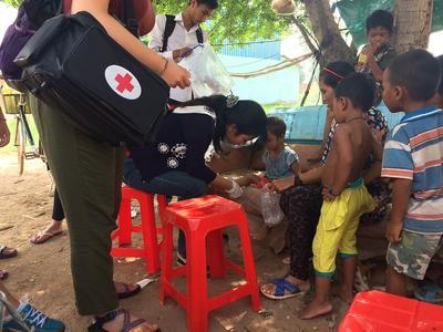 Public Health outreach in a Cambodian village