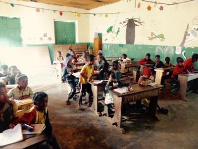 A school visited by volunteers in Madagascar