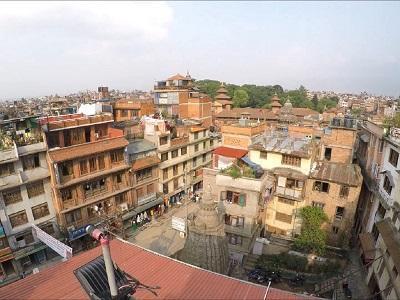 A view of the Kathmandu skyline