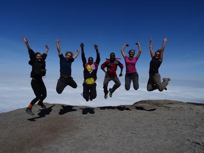 Volunteers travel together over weekends