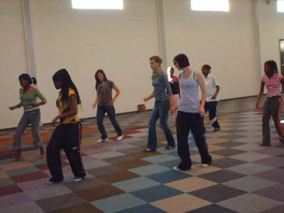 Dance class with youth group