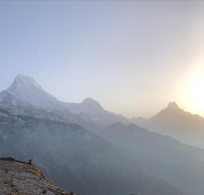 A sceneic view of Mudai Peak
