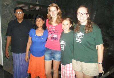 Host family in Sri Lanka