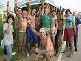 Volunteers after mangrove work