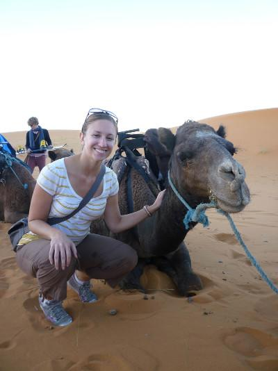 With my camel