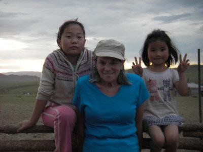 Children and I in Mongolia