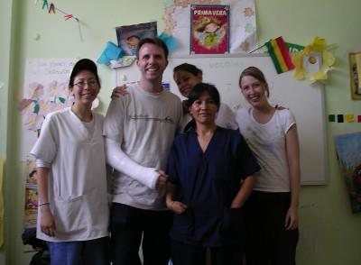 Staff and volunteers at placement