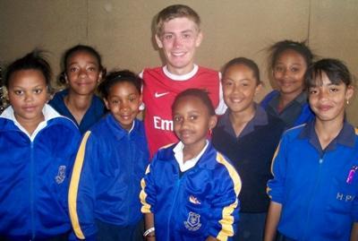 The girls football team