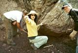 Working at Inca site