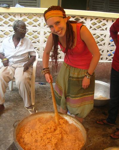 Cooking jollof rice