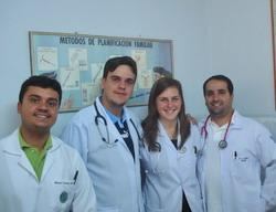 With doctors at the clinic