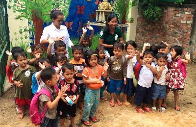 Cute kids in Cambodia