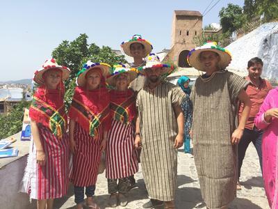 Volunteers on a weekend trip in Morocco