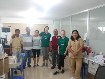 High School Special volunteers with the staff at the city health office