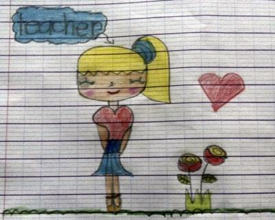 A drawing from one of the students