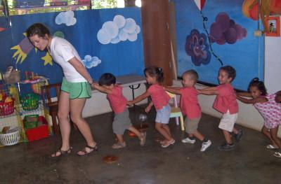 Playing with the children