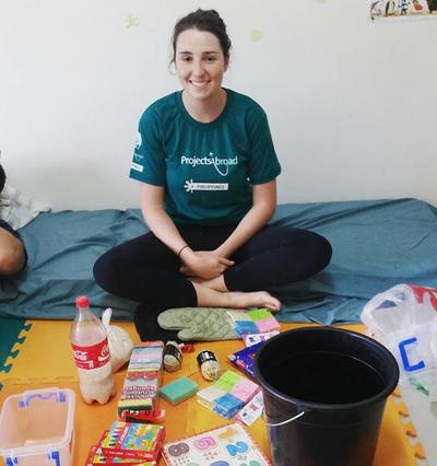 Emily McArdle at the rehab centre in Philippines