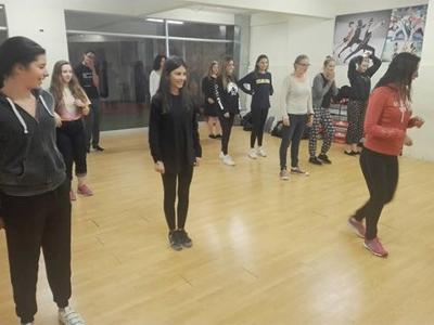 Taking part in a salsa class
