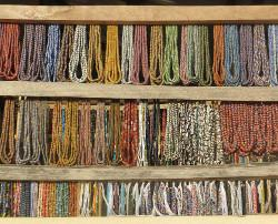 Volunteering bead market Ghana