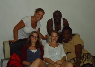 Volunteer host family in Tanzania