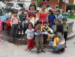Peru volunteering on children's day