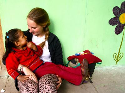 Florence volunteering in Peru